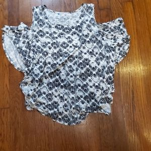 We the Free Cold Shoulder Lead Pattern Top